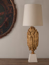 GILDED PLASTER TABLE LAMP